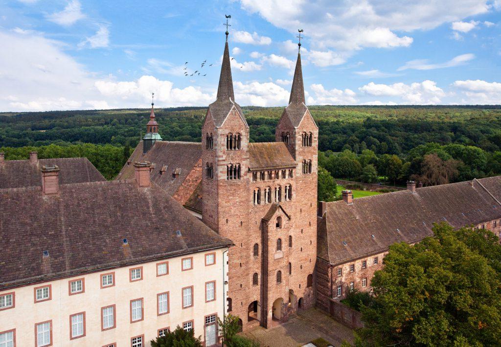 Luftaufnahme Schloss Corvey